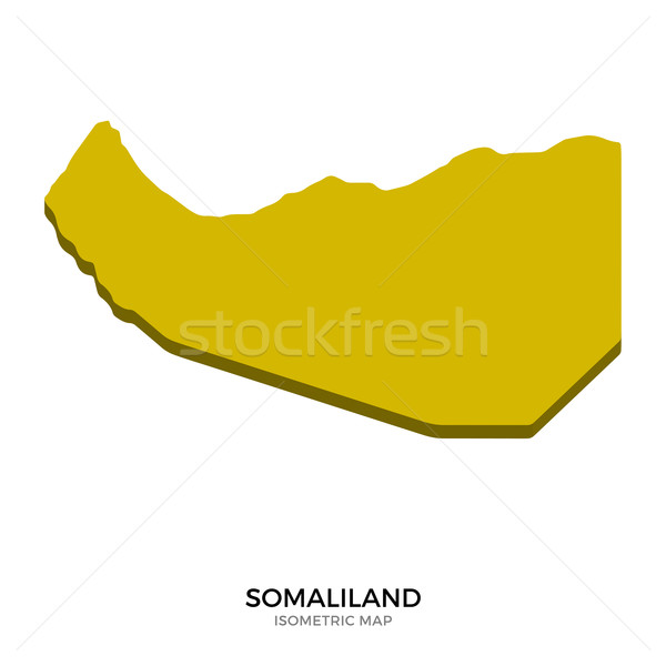 Isometric map of Somaliland detailed vector illustration Stock photo © tkacchuk