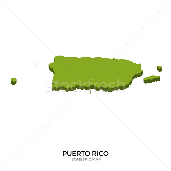 Isometric map of Puerto Rico detailed vector illustration Stock photo © tkacchuk