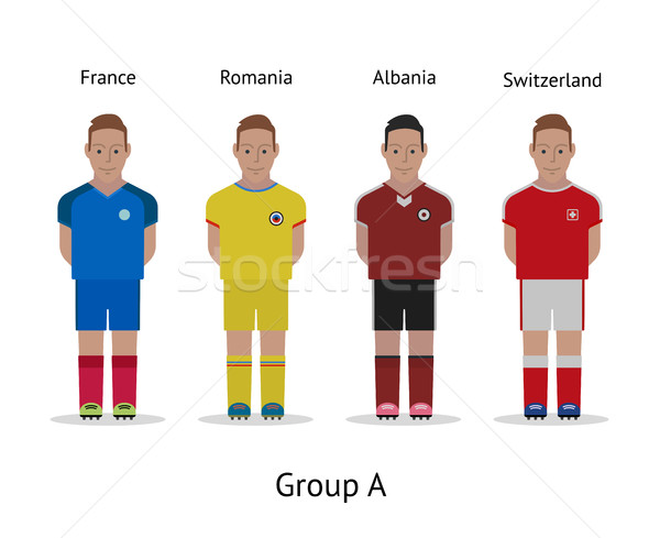 Players kit. Football championship in France 2016. Group A - France, Romania, Albania, Switzerland Stock photo © tkacchuk
