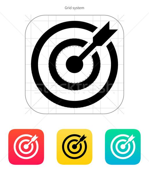 Darts target aim icon. Successful shoot. Stock photo © tkacchuk