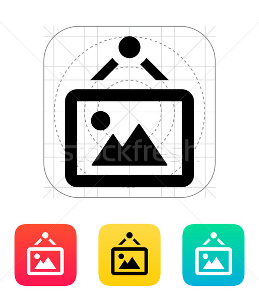 Framed picture icon. Stock photo © tkacchuk