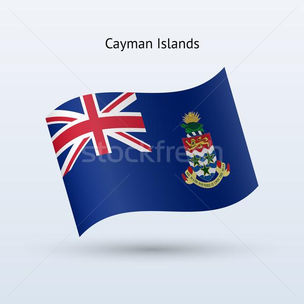 Cayman Islands flag waving form. Stock photo © tkacchuk