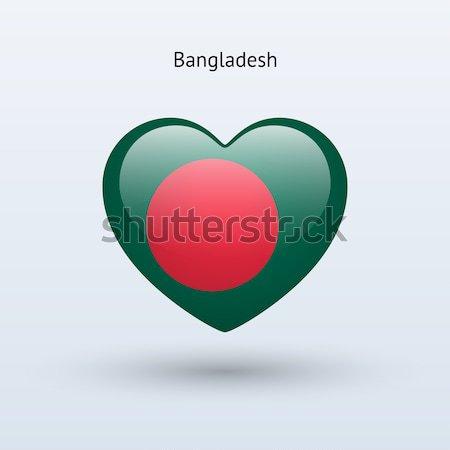 Amor Bangladesh símbolo coração bandeira ícone Foto stock © tkacchuk