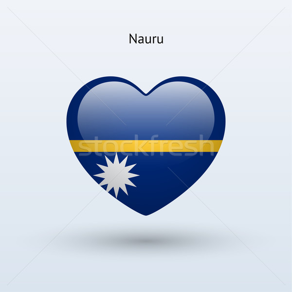 Amour Nauru symbole coeur pavillon icône Photo stock © tkacchuk