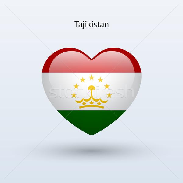 Amour Tadjikistan symbole coeur pavillon icône Photo stock © tkacchuk