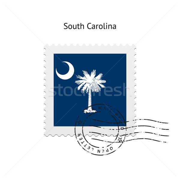 State of South Carolina flag postage stamp. Stock photo © tkacchuk