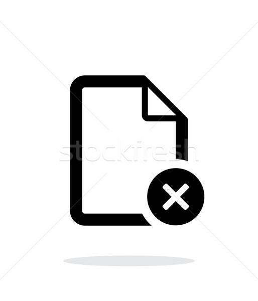 Remove file icon on white background. Stock photo © tkacchuk