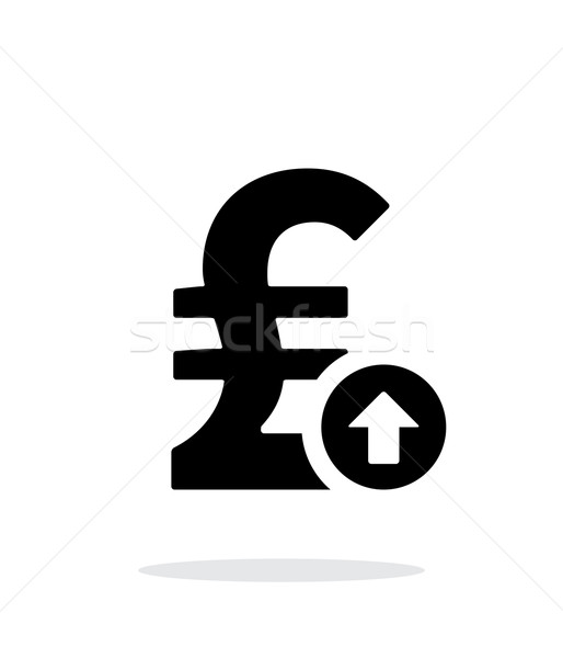 Pound sterling exchange rate up icon on white background. Stock photo © tkacchuk