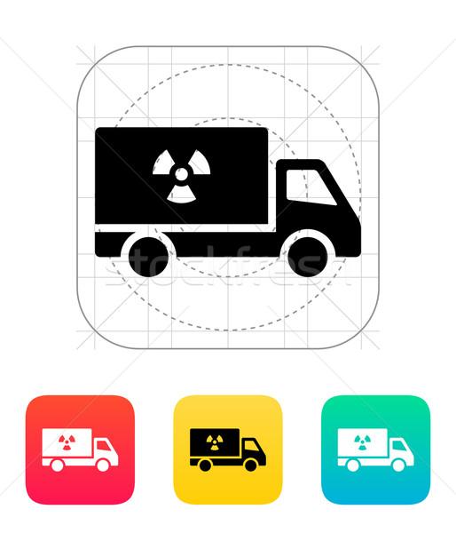 Truck with radiation icon. Stock photo © tkacchuk