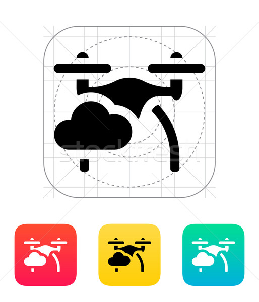 Quadcopter in sky icon. Stock photo © tkacchuk