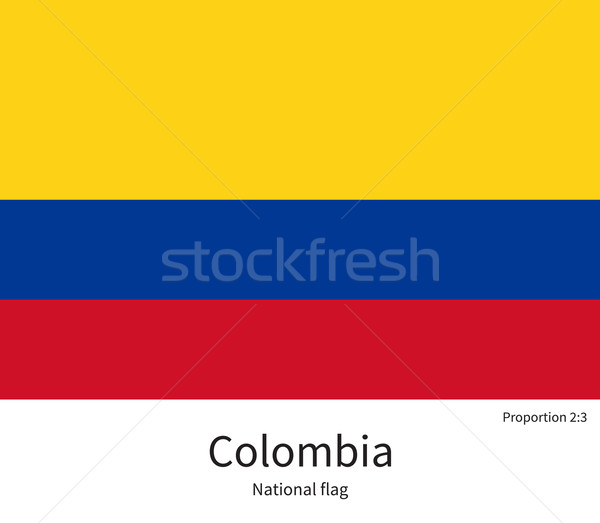 National flag of Colombia with correct proportions, element, colors Stock photo © tkacchuk