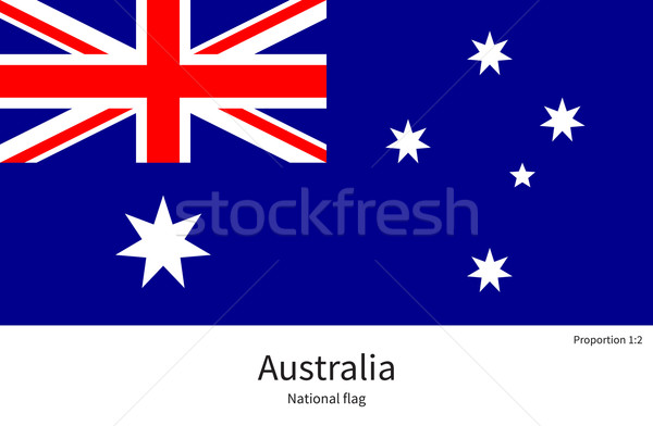 National flag of Australia with correct proportions, element, colors Stock photo © tkacchuk