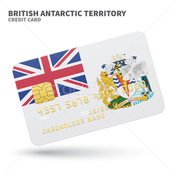 Hitelkártya brit terület zászló bank prezentációk Stock fotó © tkacchuk