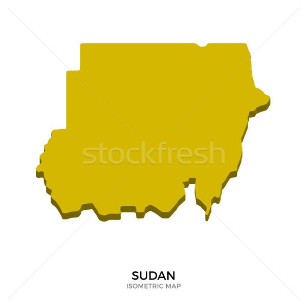 Isometric map of Sudan detailed vector illustration Stock photo © tkacchuk