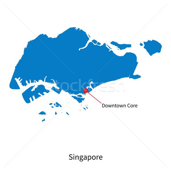 詳しい ベクトル 地図 シンガポール 市 タウン ストックフォト © tkacchuk