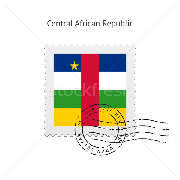 Central African Republic Flag Postage Stamp. Stock photo © tkacchuk