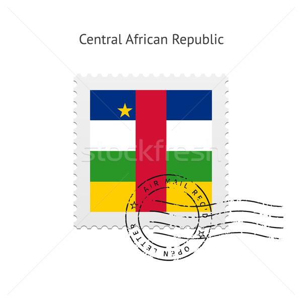 центральный африканских республика флаг почтовая марка белый Сток-фото © tkacchuk
