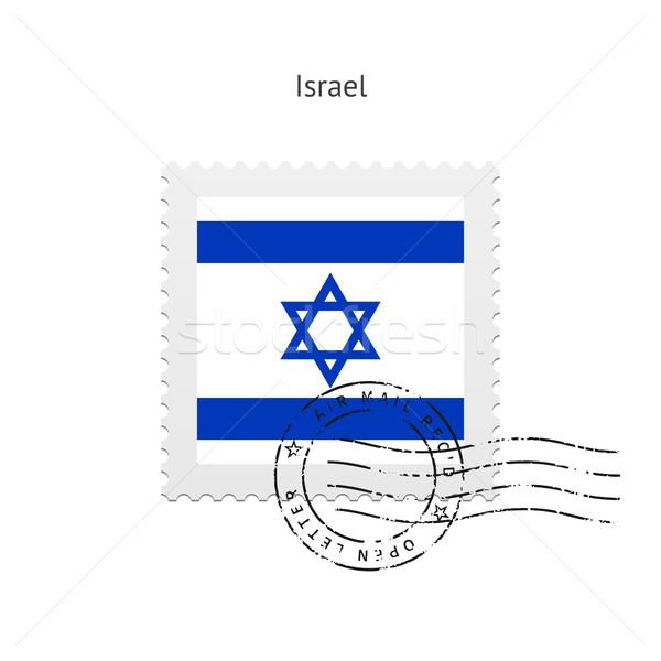 Izrael zászló postabélyeg fehér felirat levél Stock fotó © tkacchuk