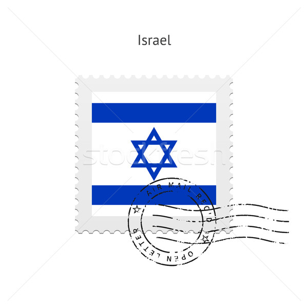Israël vlag witte teken brief Stockfoto © tkacchuk