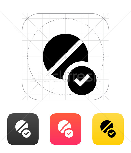 Pill icon. Vector illustration. Stock photo © tkacchuk