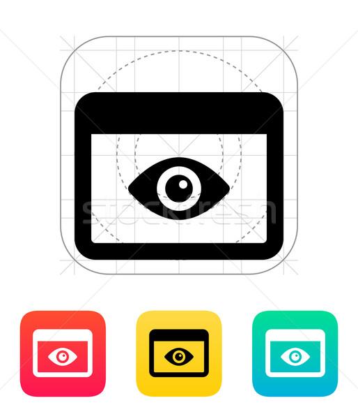 Alkalmazás ellenőrzés ikon számítógép szem absztrakt Stock fotó © tkacchuk