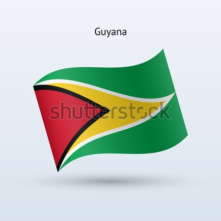 Guyana zászló integet űrlap szürke felirat Stock fotó © tkacchuk