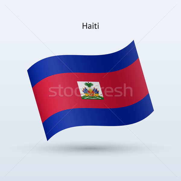 Haiti bayrak form gri imzalamak Stok fotoğraf © tkacchuk