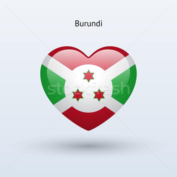 Amor Burundi símbolo coração bandeira ícone Foto stock © tkacchuk