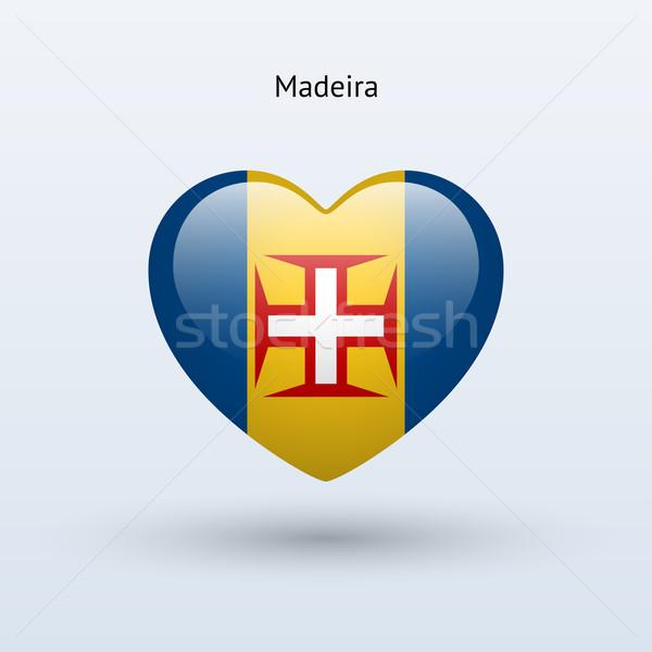 Sevmek madeira simge kalp bayrak ikon Stok fotoğraf © tkacchuk