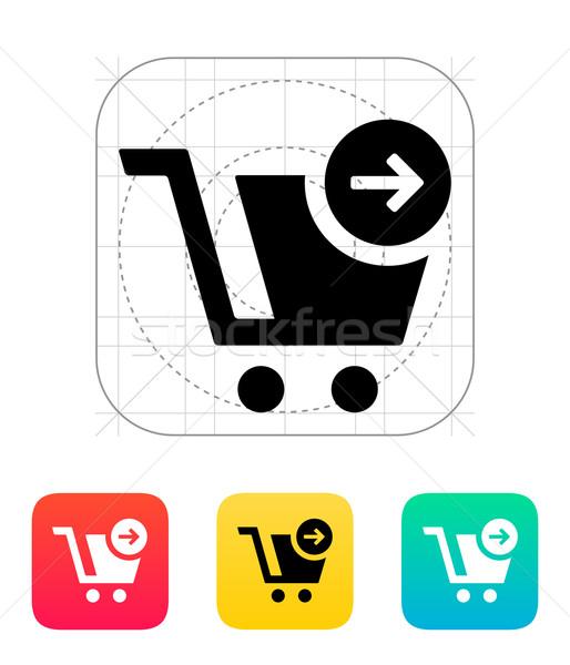 Shopping cart icon. Stock photo © tkacchuk