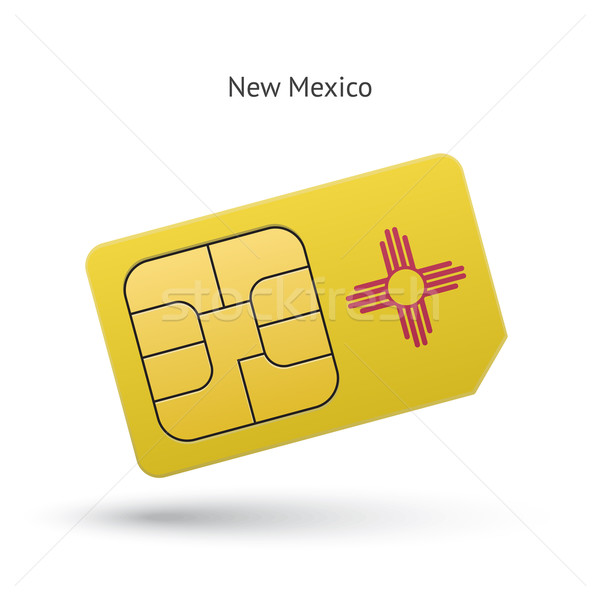 State of New Mexico phone sim card with flag. Stock photo © tkacchuk