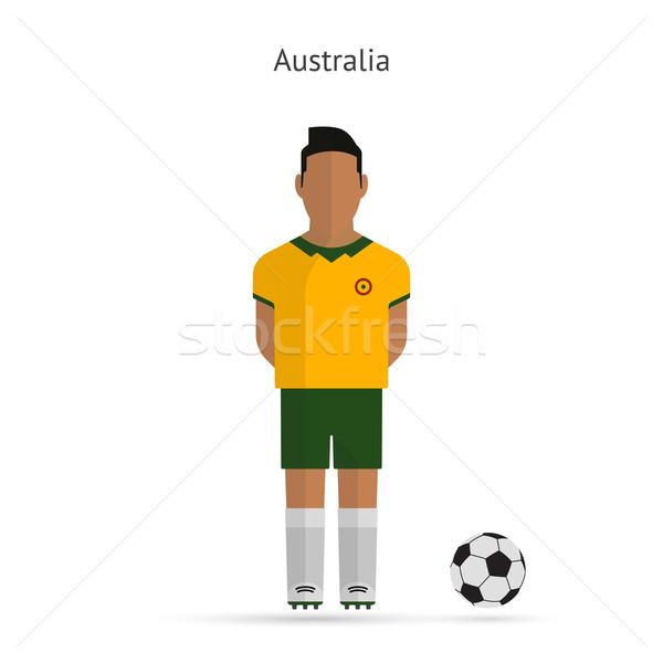 National football player. Australia soccer team uniform. Stock photo © tkacchuk