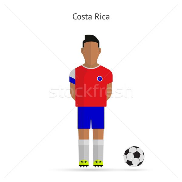Futballista Costa Rica futball csapat egyenruha férfi Stock fotó © tkacchuk