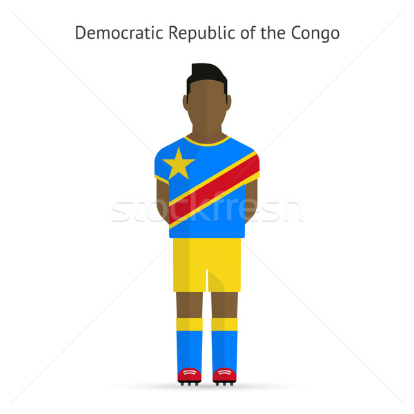 Democratic republica Congo fotbal uniforma Imagine de stoc © tkacchuk