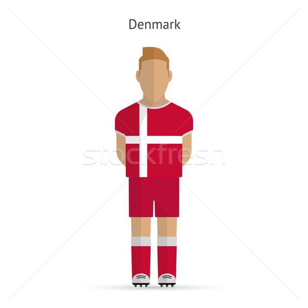 Dánia futballista futball egyenruha absztrakt fitnessz Stock fotó © tkacchuk