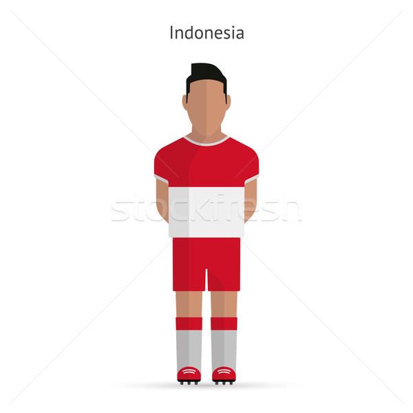 Сток-фото: Индонезия · футболист · Футбол · равномерный · аннотация · фитнес