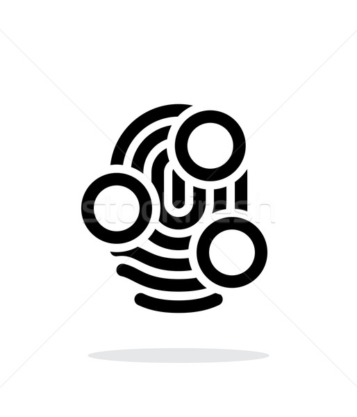 Fingerprint whorl type scan icon on white background. Stock photo © tkacchuk