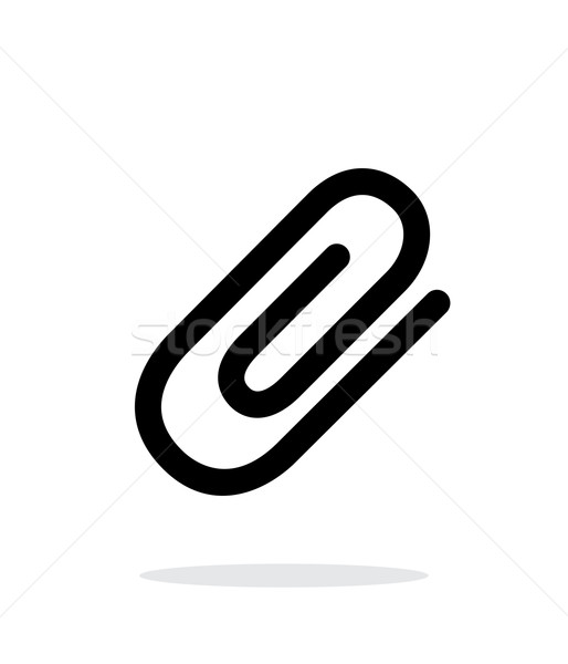 Attachment (Paper clip) icon on white background. Stock photo © tkacchuk