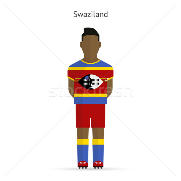 Swaziland football player. Soccer uniform. Stock photo © tkacchuk