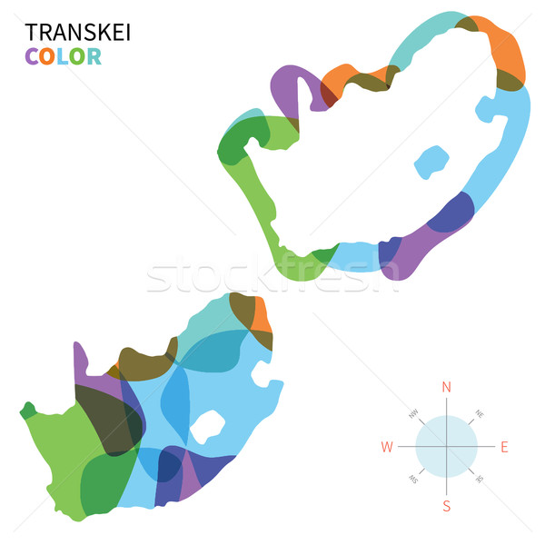 Abstract vector color map of Transkei with transparent paint effect. Stock photo © tkacchuk