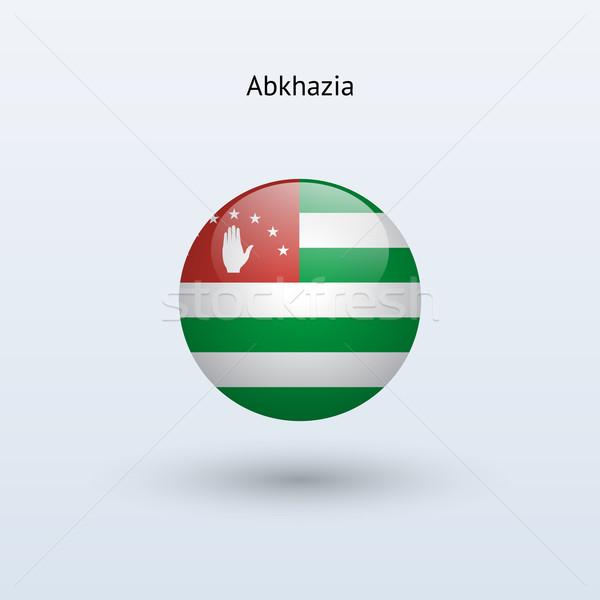 Stock photo: Abkhazia round flag. Vector illustration.
