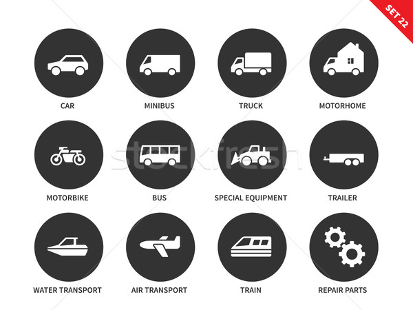Stock photo: Transport icons on white background
