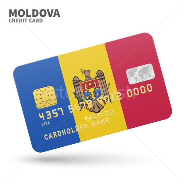 Hitelkártya Moldova zászló bank prezentációk üzlet Stock fotó © tkacchuk