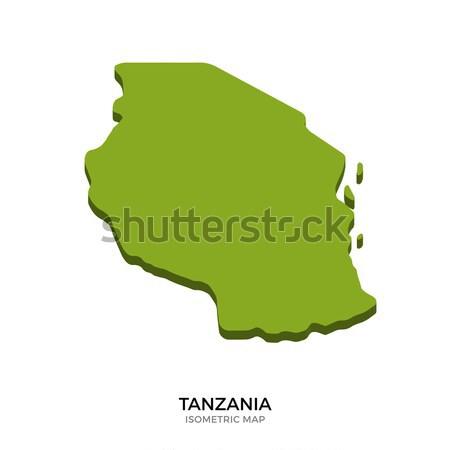 изометрический карта Танзания подробный изолированный 3D Сток-фото © tkacchuk