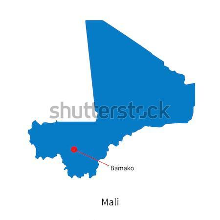 Detailed vector map of Mali and capital city Bamako Stock photo © tkacchuk