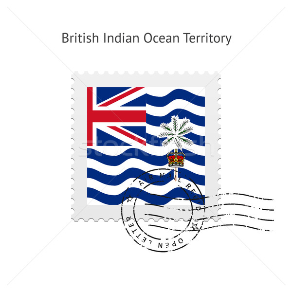 British Indian Ocean Territory Flag Postage Stamp. Stock photo © tkacchuk