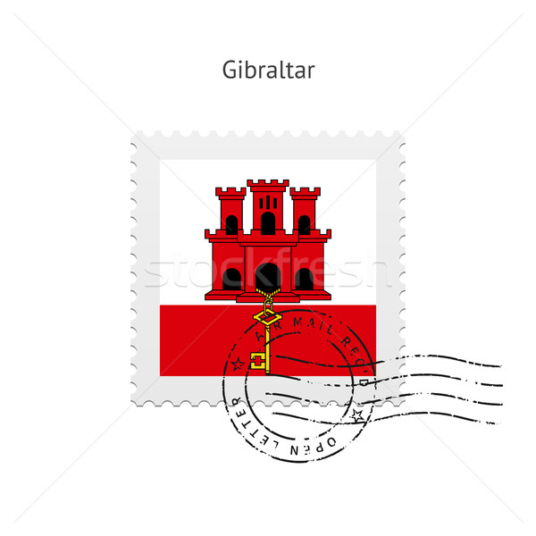 Gibraltar Flag Postage Stamp. Stock photo © tkacchuk