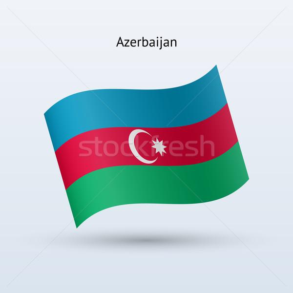 Azerbeidzjan vlag vorm grijs reizen Stockfoto © tkacchuk