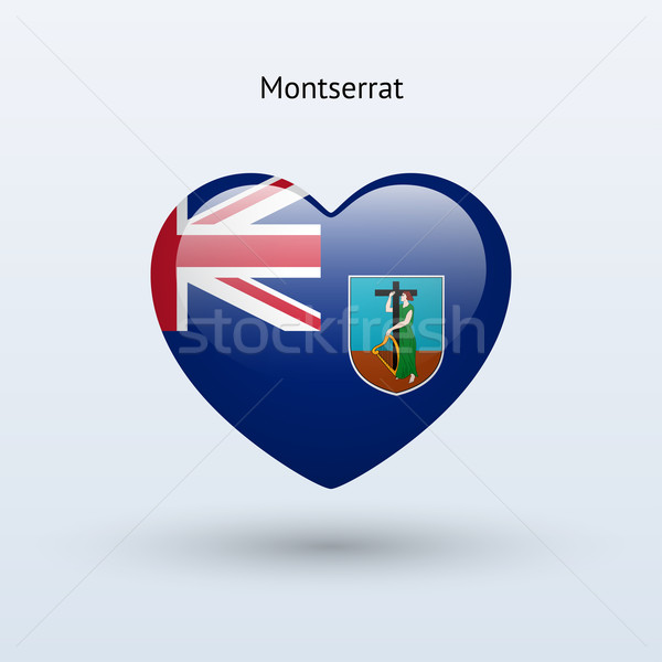 Love Montserrat symbol. Heart flag icon. Stock photo © tkacchuk