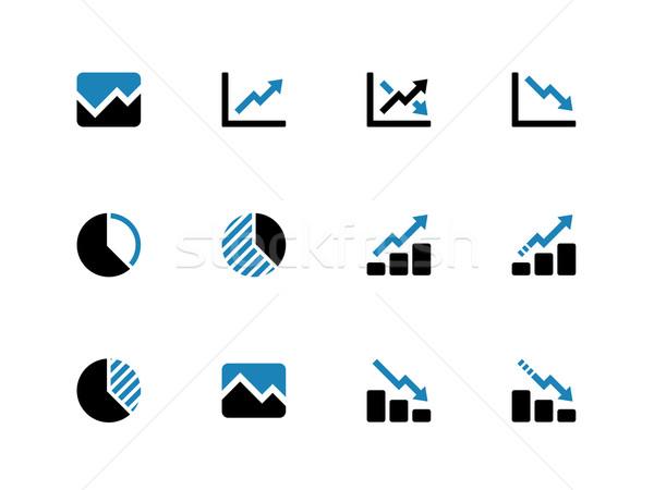 Line chart and Diagram duotone icons. Stock photo © tkacchuk